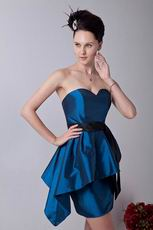 Affordable Dark Blue Taffeta Short Homecoming Dresses