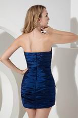 Navy Blue Taffeta Bridesmaid Dress Girls Wear Discount