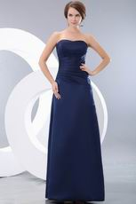Marine Blue Stain Floor Length Skirt Amazing Prom Dresses
