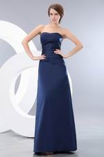 Marine Blue Stain Floor Length Skirt Amazing Prom Dresses