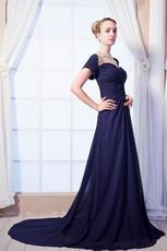 Modest Dark Navy Women In Mother Of The Bride Dress
