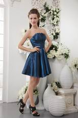 Navy Blue Strapless Taffeta Bridesmaid Dress For Cheap