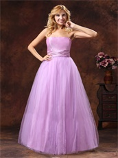 Strapless Lilac Princess Bride's Closest Friends Wear For Wedding Party