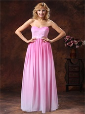 Fairy Baby Pink To Pink Gradient Sweetheart Gown For Bridesmaid Purchase