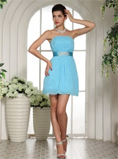 Casual Knee Length Skirt Bridesmaid Most Choice Dress Aqua Blue
