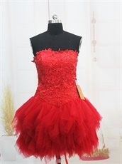 2019 Scarlet A-line Skirt Short Prom Dresses Near Me