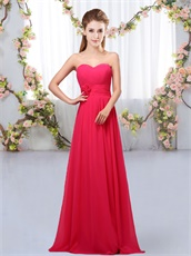 Fuchsia Simple Flowing Chiffon Prom 2019 Long Dama Dress Customized