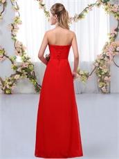 Fuchsia Simple Flowing Chiffon Prom 2019 Long Dama Dress Customized