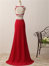 Elegant Fully Pearl Decorated Floor Length Prom Gowns Cheap Amazon