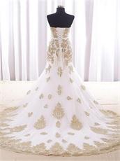 Sparkle Pineapple Pattern Mermaid Train White Celebrity Dress Luxury