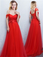 Changeable Straps Red Corset Back Ceremony Pageant Dresses 2018