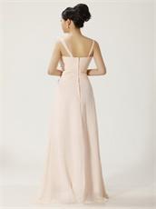 Blanched Almond Asymmetric Straps Prom Dress Sunshine Daytime Highlight Skin