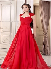 Slimming Empire Waist Floor Length Girls Beauty Contest Dress