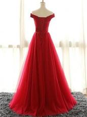 Off Shoulder V Neck Ruching Succinct Puffy Evening Dress For Women