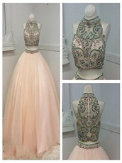 Blush Popular Color Two Pieces Adult Ceremony At Cheap Price