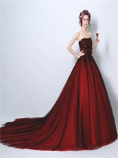 Classical Black and Red Matching Quince Her Court Dresses 2019 Girls Wear