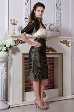 Dark Olive Green Mother Of The Bride Dress With Jacket