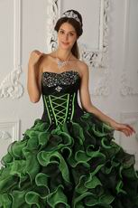Sweetheart Sprin Green Dama Quinceanera Dress For Dsicount