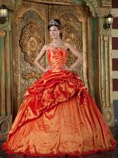 Nice Orange Red Dress To Quinceanera Wear In Maryland
