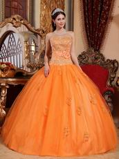 Sweetheart Orange Prom Quinceanera Party Dress Discount