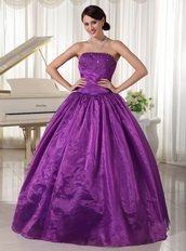 Eggplant Purple Quinceanera Dress For Custom Made Decorate Strapless Like Princess