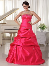 Custom Made Designer Your Own Hot Pink Quinceanera Dress With Pick-ups Like Princess