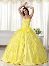 Bright Yellow Sweetheart Big Skirt Quinceanera Dress Sale Like Princess