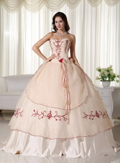 Champagne Pretty Quinceanera Dress Embroidery Decorate Like Princess
