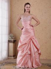 Baby Pink Floor Length Skirt Evening Gown For La