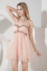 Sexy Sweetheart Orange Pink Short Graduation Dress