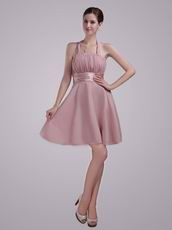 2013 Designer Short Prom Dress Made By Pearl Pink Chiffon