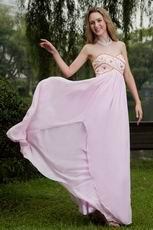 Baby Pink Empire Waist Skirt Cache Maternity Prom Dress