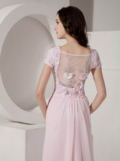 Sequined Floor-length Cheap Baby Pink Prom Dress With Crystal