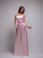 Mature Baby Pink Ebay Prom Dresses With Handmade Bowknot
