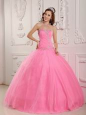 Lovely Sweetheart Pink Ball Gown Skirt Quinceanera Dress