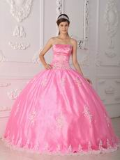 Lovely Strapless Ball Gown Floor Length Pink Skirt