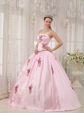 Pink Quinceanera Dress With Corset Back Long Skirt