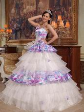 Lovely Spaghetti Straps Floor Length Layers 2014 Quinceanera Dress
