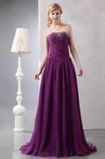 Affordable Purple Chiffon Evening Dress Shopping Online