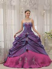 Clearance Quinceanera Dress Dark Orchid With Camellia