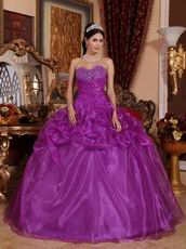 Discount Purple Quinceanera Dress For Winter Party Wear