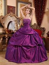 Purple Quinceanera Gown For Young Women 16th Birthday