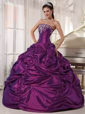 Purple New Fashion Strapless Ball Gown Quinceanera Dress