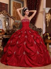 Designer Wine Red Floor Length Ball Dress to Quinceanera