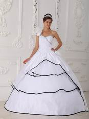 Single One Shoulder White Dress to Quinceanera Party Wear