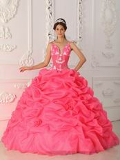 Top Designer Ruched Ball Gown Hot Pink Quinceanera Dress