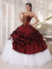 Burgundy Sweetheart Floor Length Quinceanera Dress By Cheap