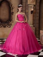 Discount Sweetheart Fuchsia Pink Dama Quinceanera Gown