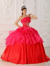 Low Price Strapless Hot Pink Ball Gown Quinceanera Dress