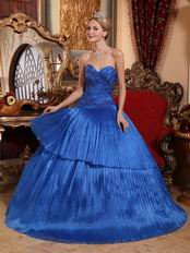 Fashion Royal Blue Quinceanera Dress For Winter Quinceanera Party